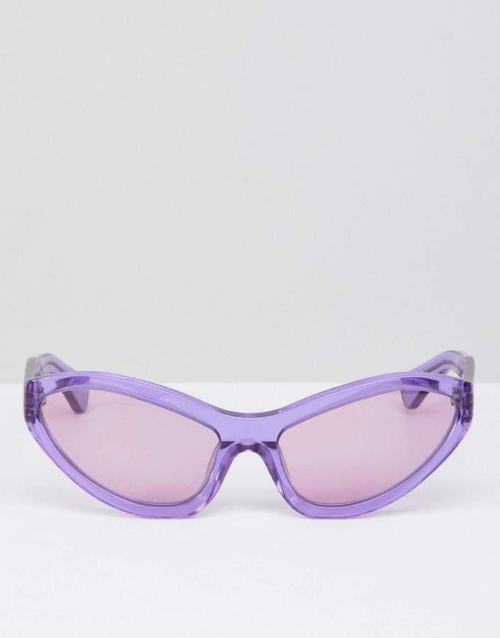 lilac extreme cat eye sunglasses - Lilac House Of Holland hIAWz