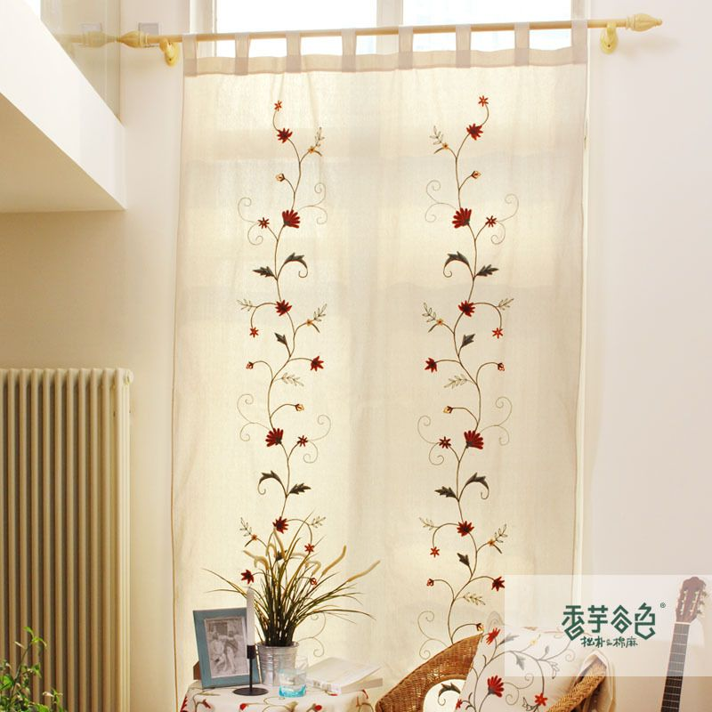 Aliexpress Com Buy Children Room Divider Kitchen Door Curtains Pastoral Floral Window: Cotton Lu Beautiful Country Style Curtains Bedroom