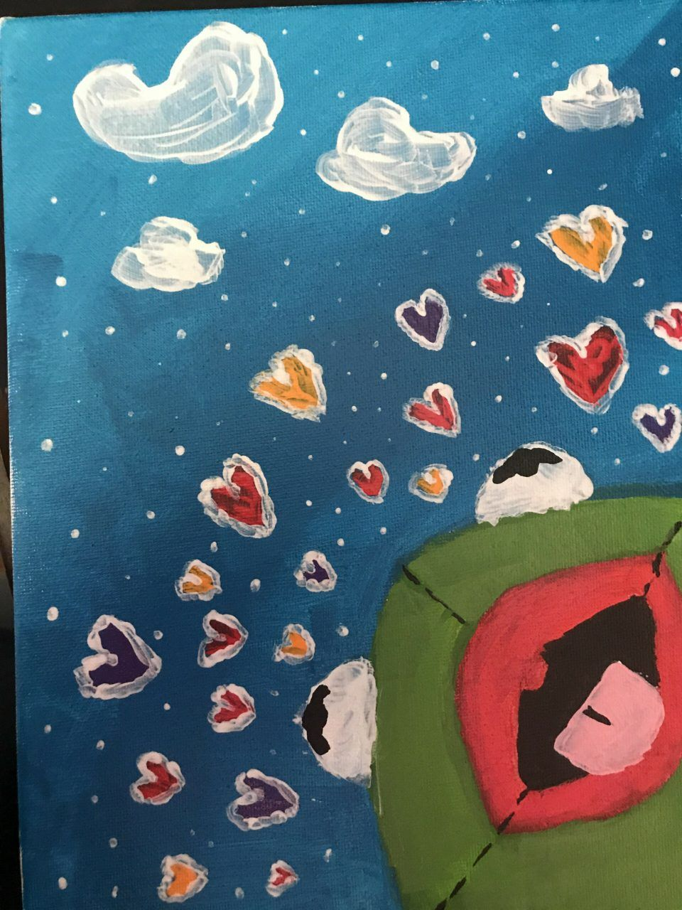 Kermit With Hearts Painting : kermit, hearts, painting, Senior, Painting