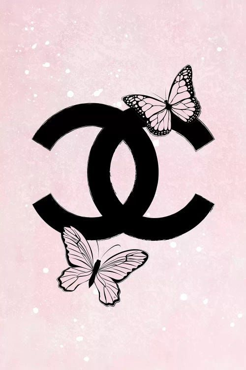 Pink Chanel Logo - Canvas Print