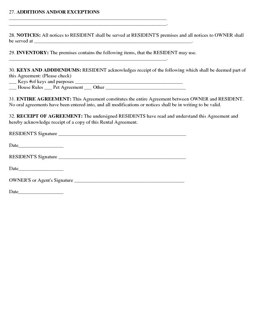 Download Free Basic Rental Agreement Or Residential Lease Printable Lease Agreement Lease Agreement Lease Agreement Free Printable Basic Rental Agreement