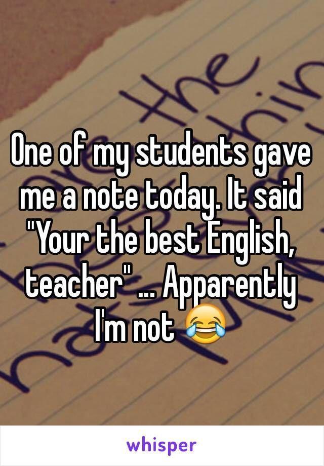 Anscheinend Englisch