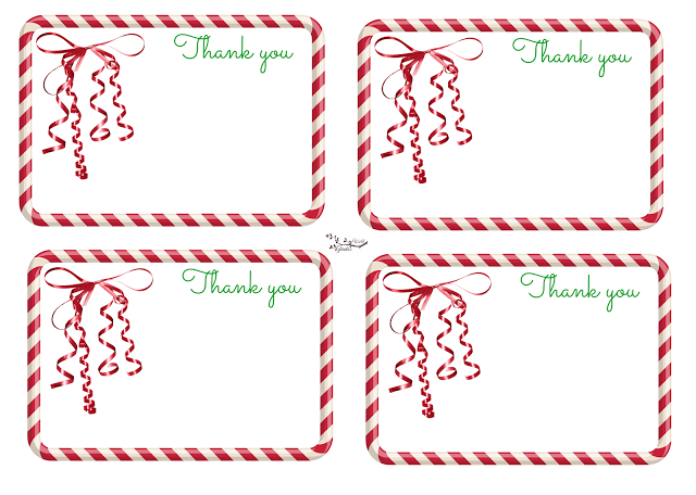 Candy Cane Thank You Note Candy Cane Thank You Notes Christmas Thank You