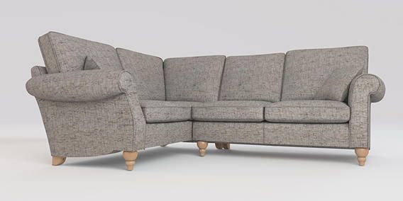 Buy Ashford Corner Sofa Left Hand Seats Boucle Weave Light - Ashford sofa