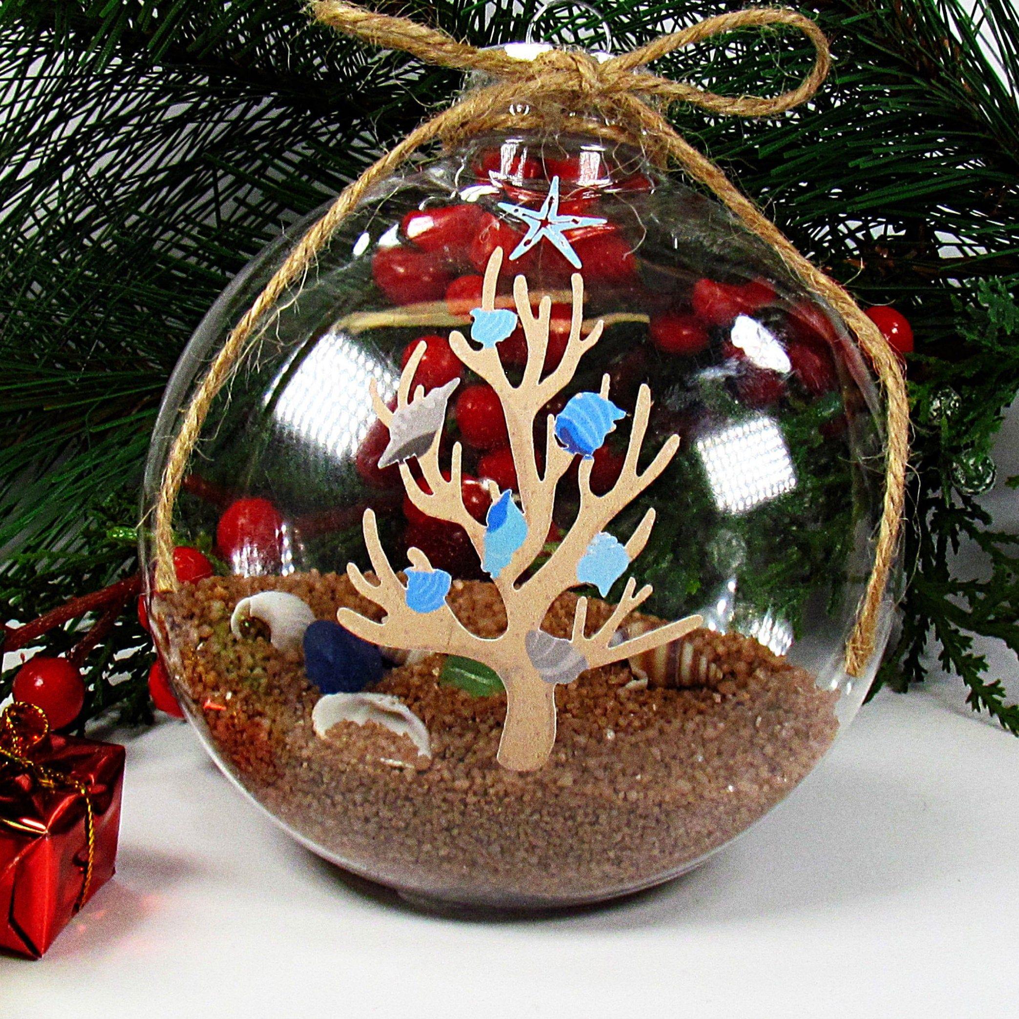 Personalized Coastal Decor Shatterproof Christmas Ornament Etsy In 2020 Coastal Christmas Tree Christmas Ornaments Christmas Tree Themes