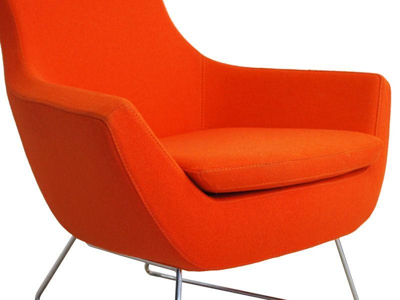 an orange chair to match | i see green & orange | pinterest