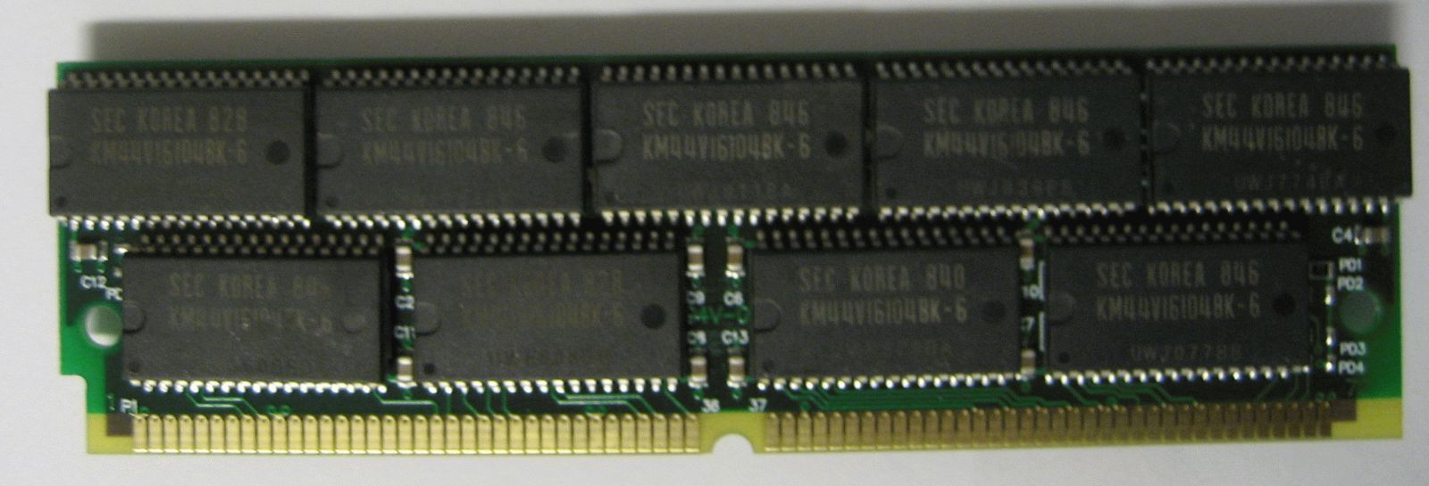 64MB 72pin SIMM MEMORY 16X36 WITH PARITY FP FPM 60NS 5V RAM
