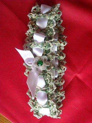 Maxima´s Kostbarkeiten: häkelanleitung strumpfband ( oder tischband ...