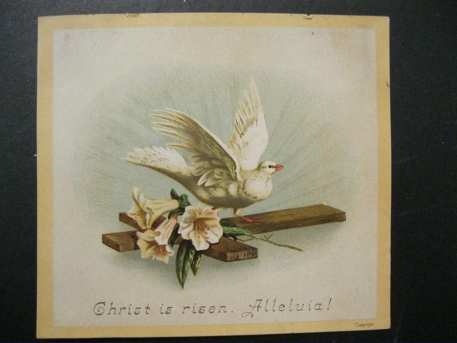 Here are two beautiful, Victorian Easter Cards. Their condition is very good with only the wear you might expect of something over 120 years old. The colors are vibrant and bright. The graphics terrific.   eBay!