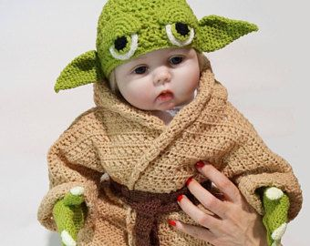 infant yoda costume crochet pdf pattern star wars costume for babies baby star wars yoda. Black Bedroom Furniture Sets. Home Design Ideas