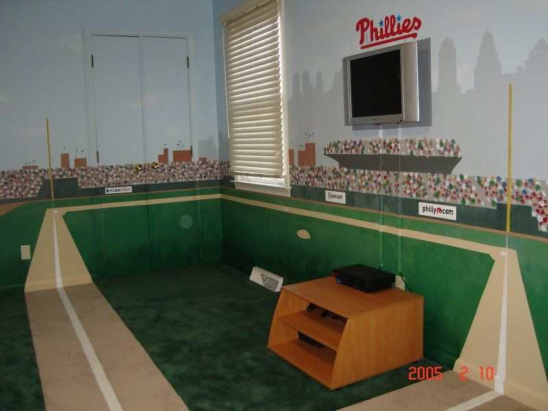 Boys Baseball Bedroom Ideas phillies baseball room | sports | pinterest | phillies baseball