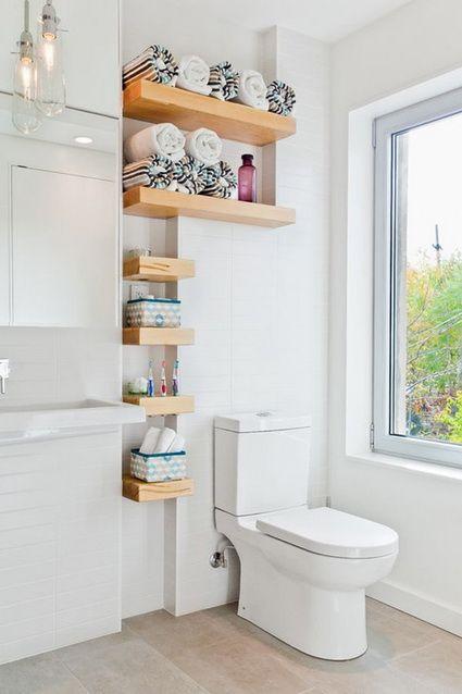 Ideas de almacenaje para baños pequeños Baño pequeño, Baño y Pequeños - baos con mosaicos