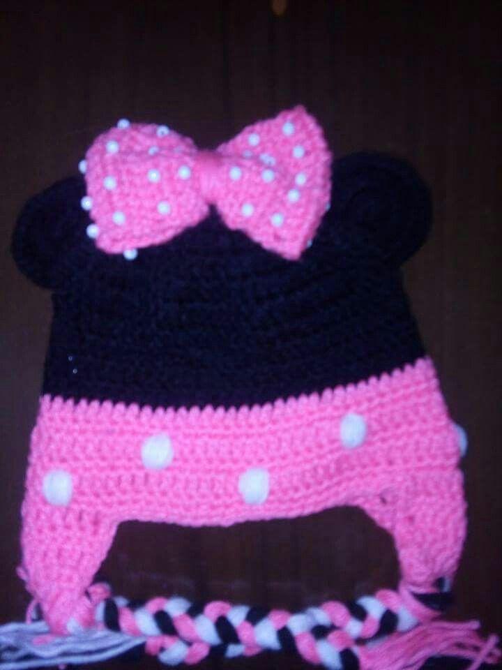 Touca infantil minie rosa