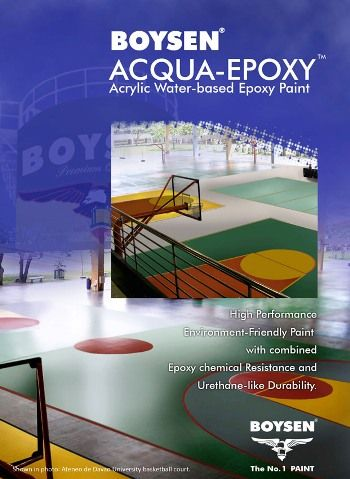 Boysen Acqua Epoxy Is A Two Component Water Based Acrylic Epoxy Paint That Has Superior Solvent Chemical And Stain Resis Epoxy Paint Epoxy Painted Wood Floors