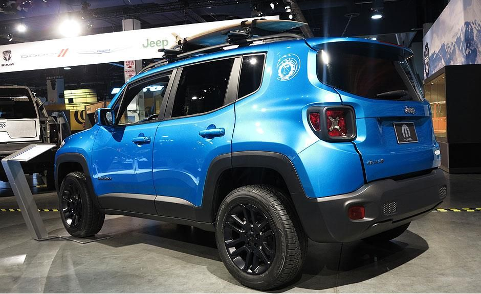 Mopar Mostra Jeep Renegade No Sema Show Jeep Renegade Jeep Salas
