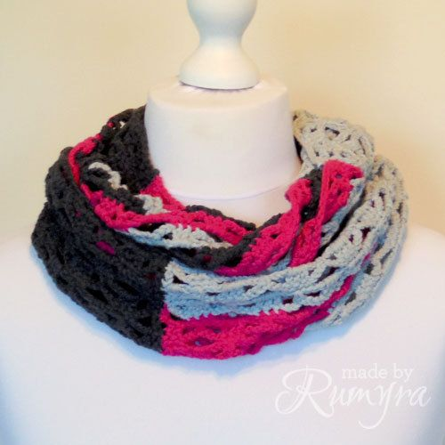 Crochet Pattern Lovely Lacy Squares Cowl by MadeByRumyra on Etsy