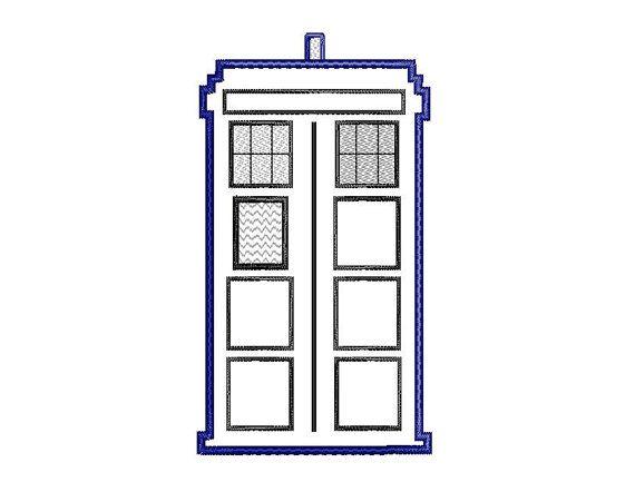 Buy3get1 Free Machine Embroidery Tardis Doctor Who Tardis
