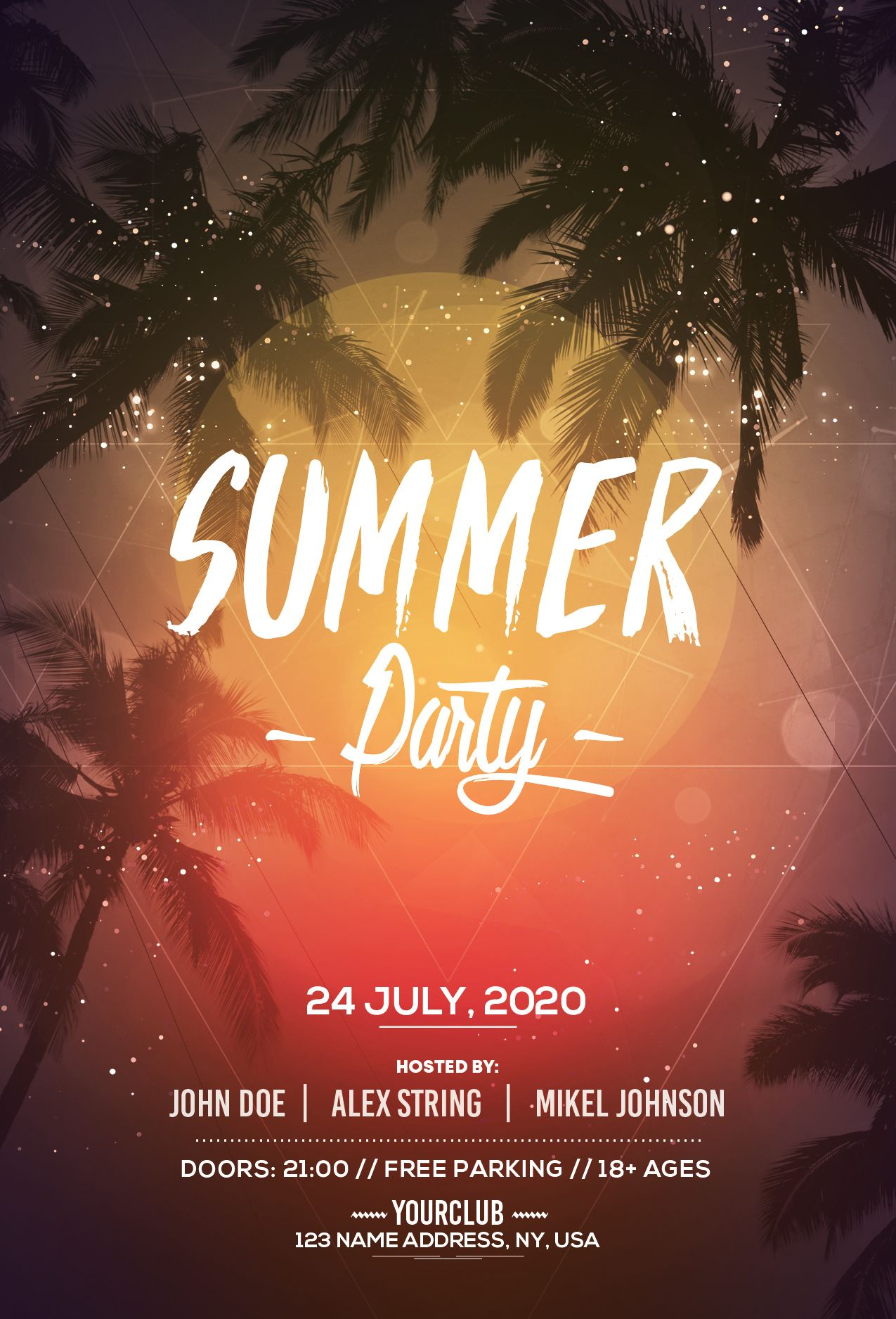 Summer Party Free PSD Flyer Template (Vol.2) | Free psd flyer ...