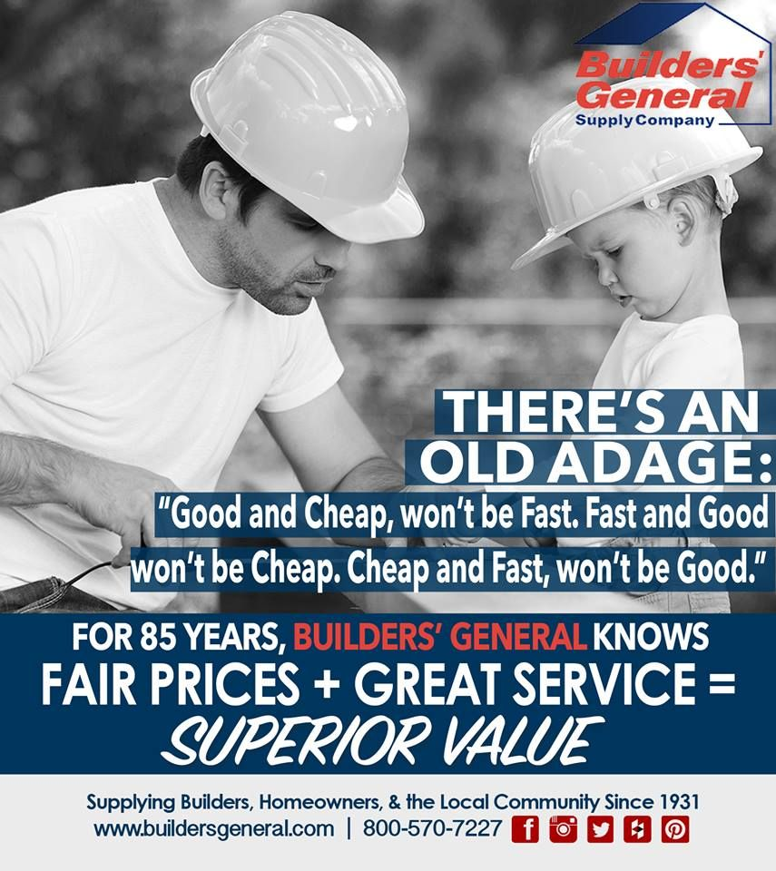 BGS Standards! #BGS #Standards #BuildersGeneral #Builders #Contractors #Value #Business #FamilyBusiness
