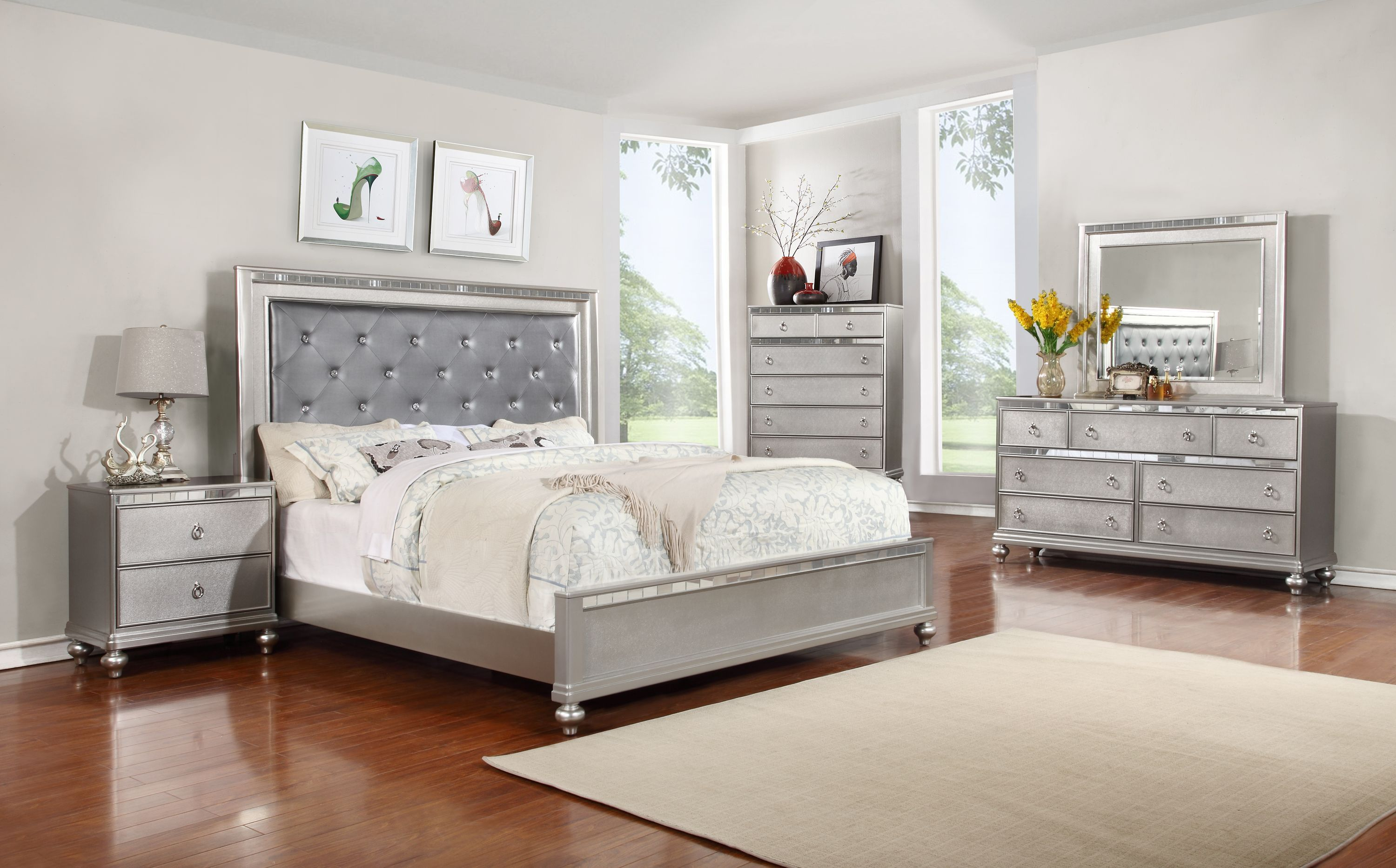 caviar with drawers pearl curio hollywood set swank bedroom usa product furniture online