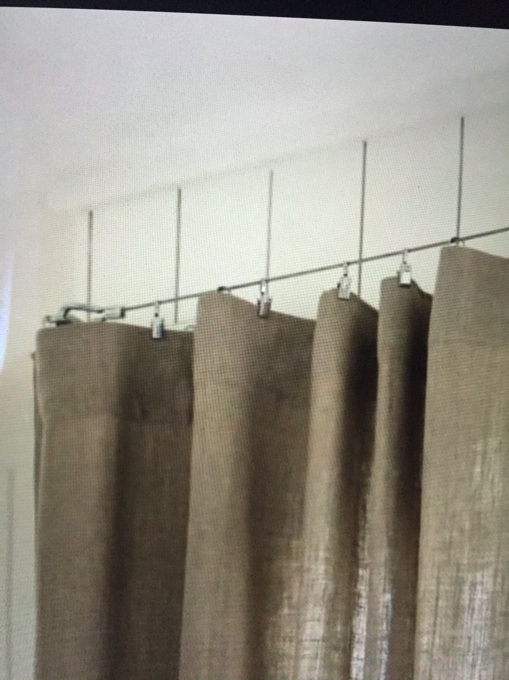 Industrial Chic Curtain Rod Hardware Store Turned Cable Buckles