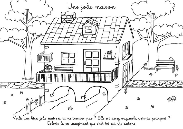 Coloriage A Imprimer Une Jolie Maison Free Coloring Pages