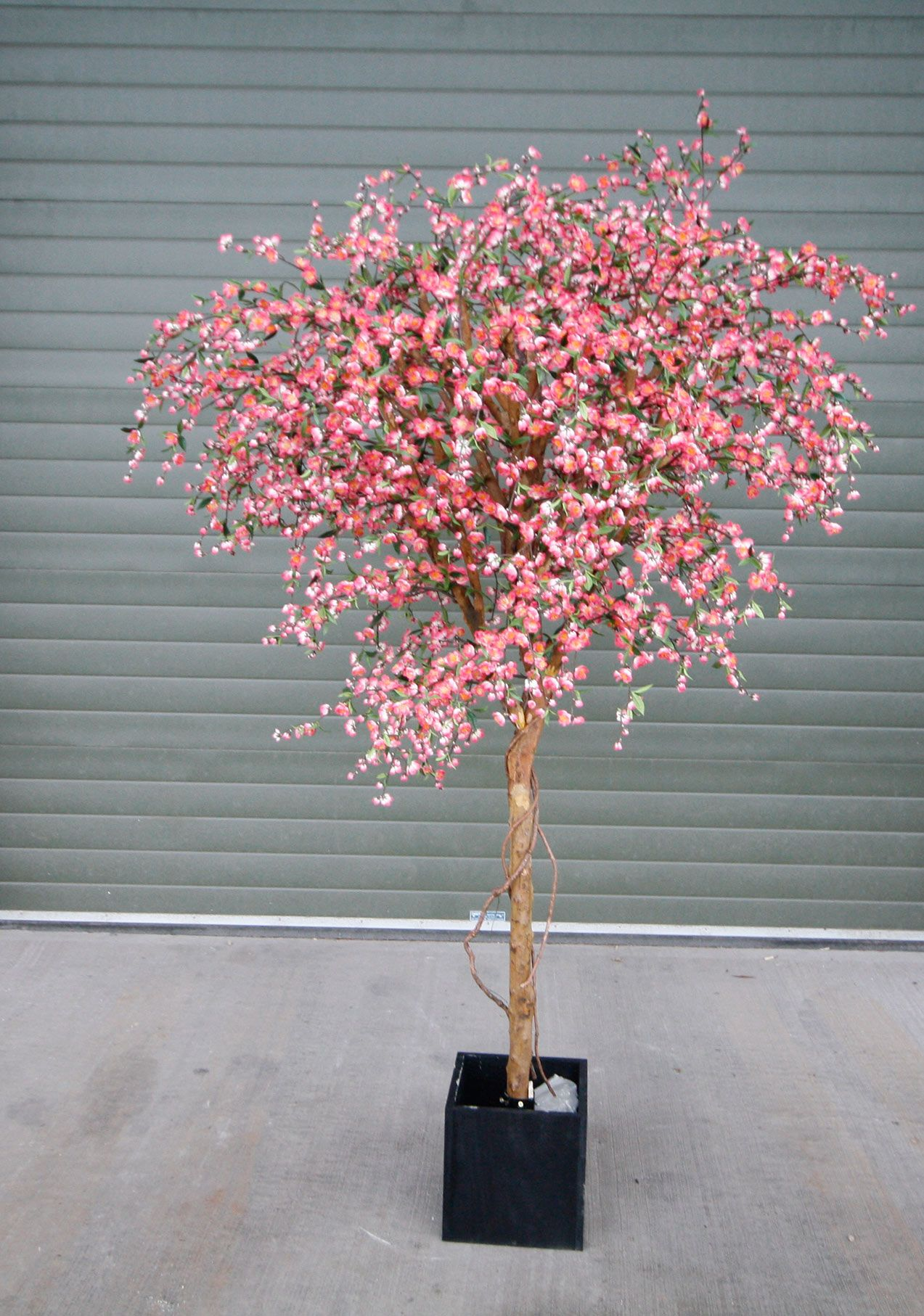 Silk Flowering Pink Blossom Tree Artificial Cherry Blossom Trees