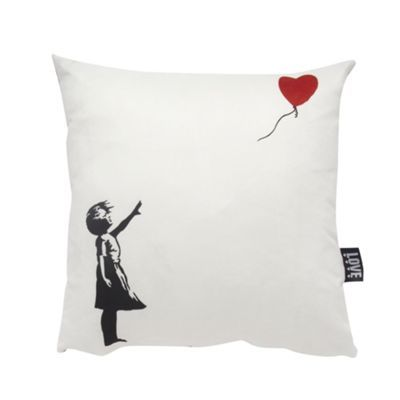 We Love Cushions Banksy Inspired Girl With Balloon Cushion At