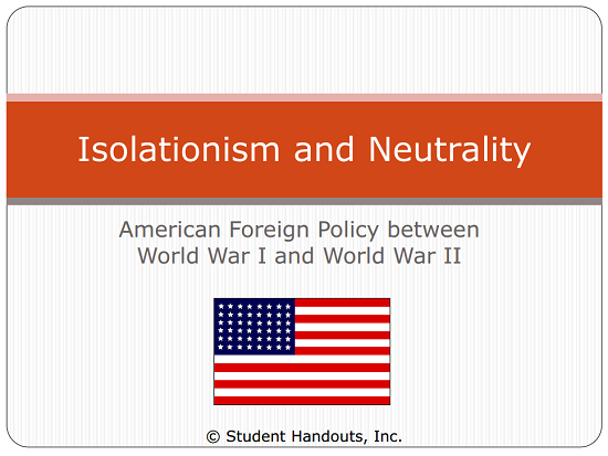How and why did the foreign policy of the USA change between 1929 and 1945?