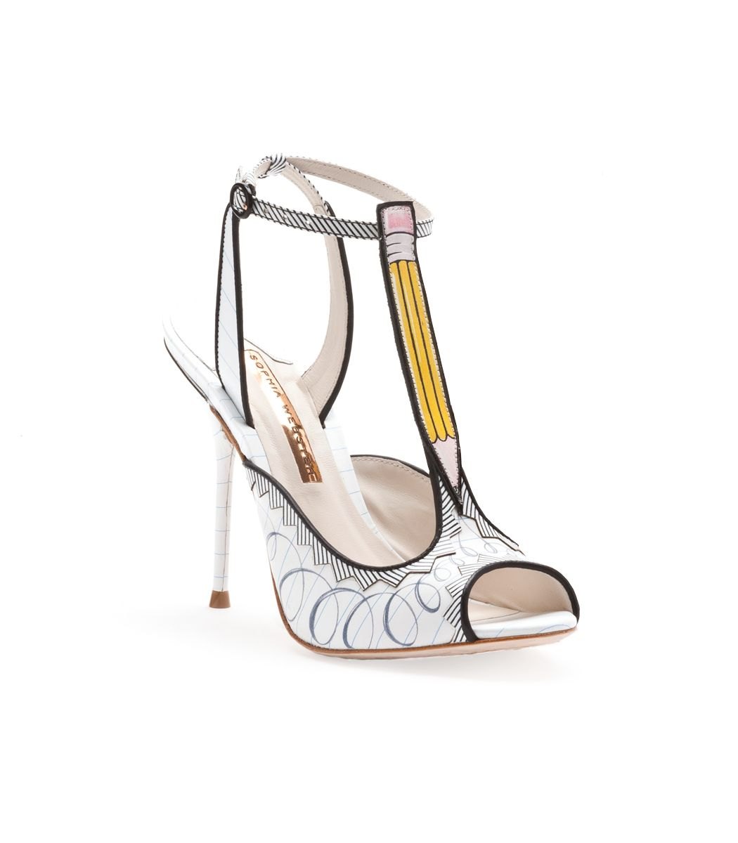 WANT. WANT. WANT.  Sophia Webster Dixie Doodle Pencil Heel - Printed Sandal - ShopBAZAAR