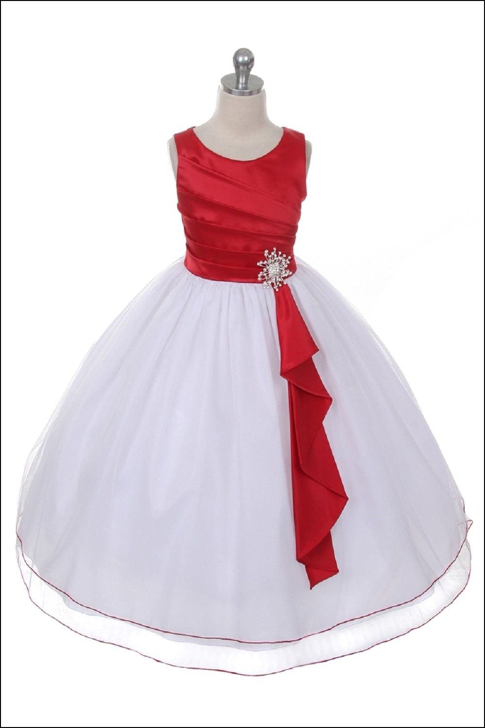 Red And White Flower Girl Dress Bautizo Pinterest Flower Girl
