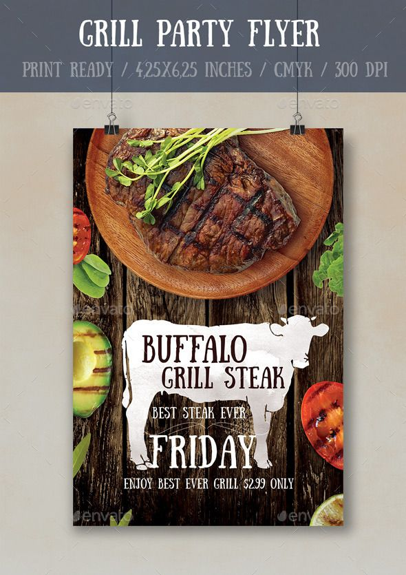 Grill Party Flyer Poster Template Grill party, Party flyer and - restaurant flyer