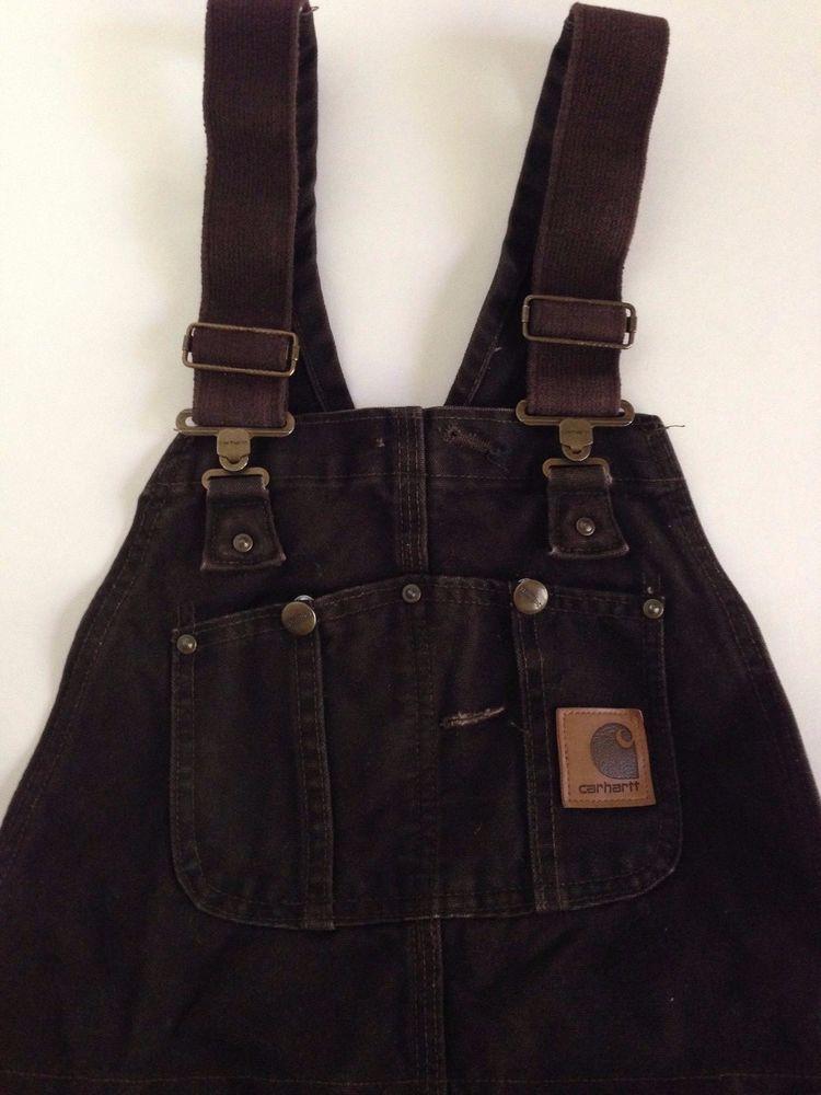 carhartt mens dark brown bib insulated overalls coveralls on insulated work overalls id=99173