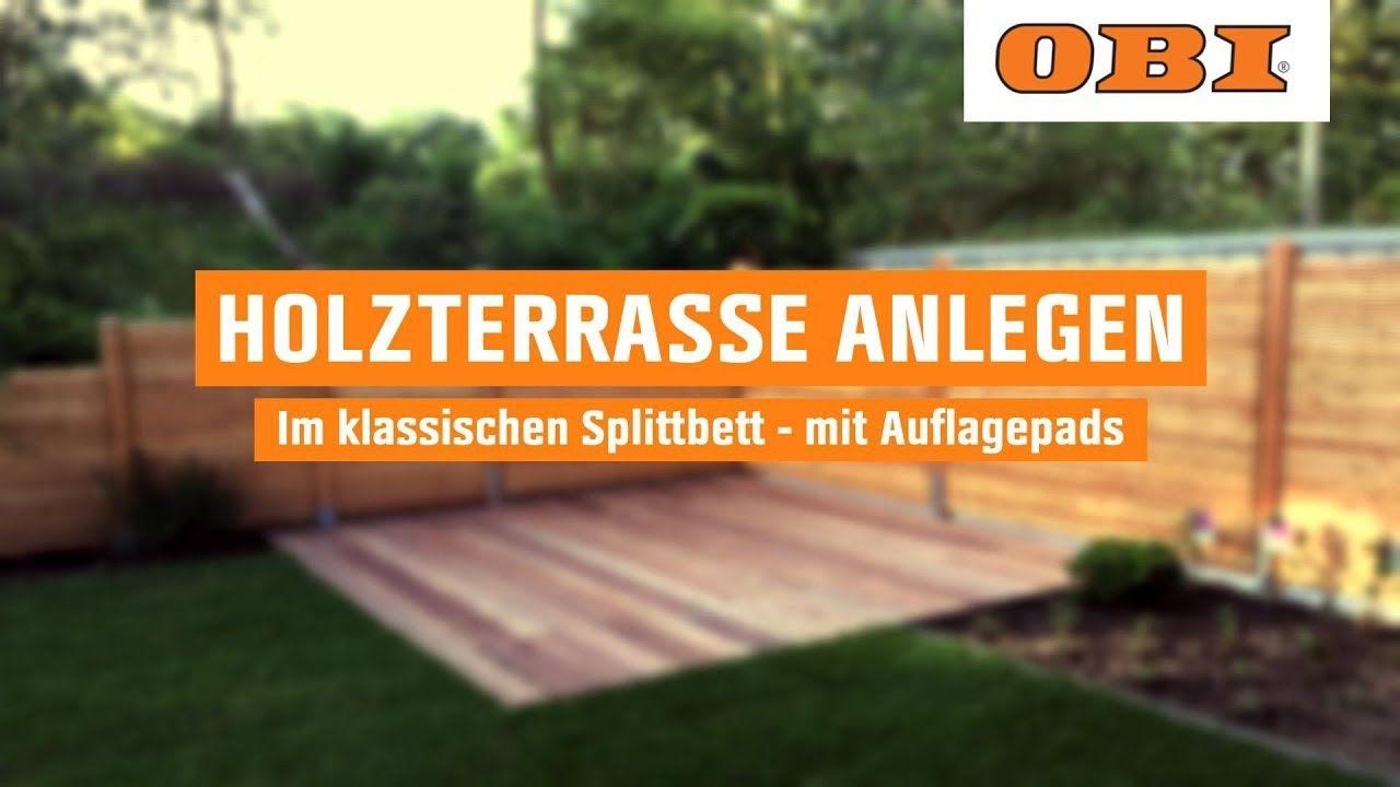 holzterrasse bauen im splittbett | obi schritt für schritt - youtube