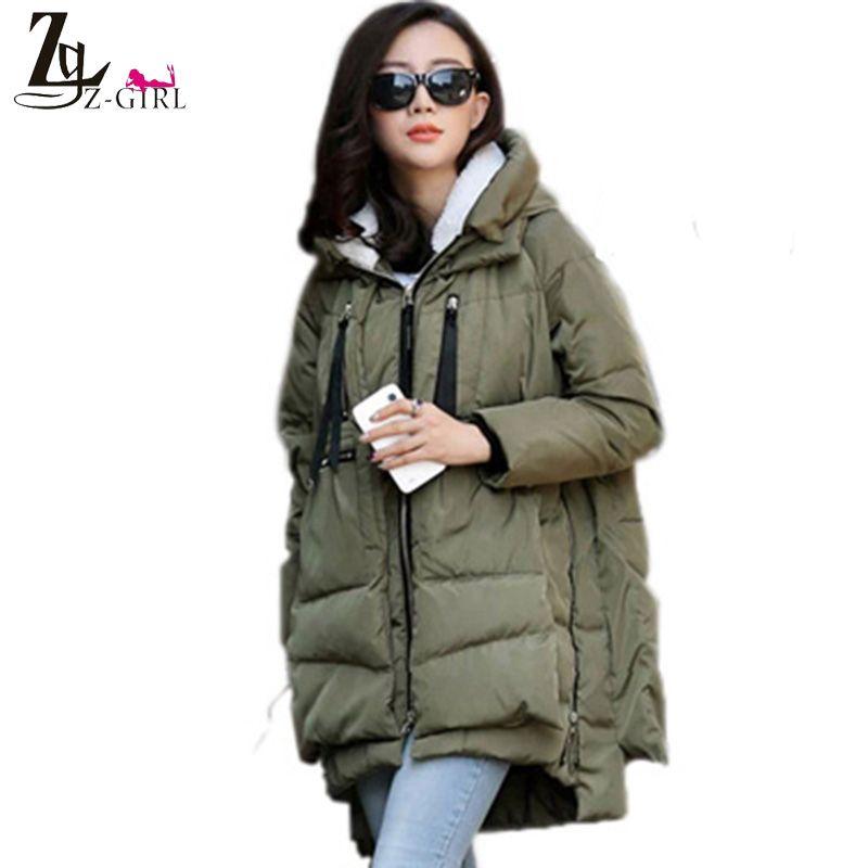 Новый 2015 женщин зимы ватные женский верхней одежды Большой размер 3XL утолщение свободного покроя вниз хлопок ватные пальто женщины парки SY9Y06 купить на AliExpress