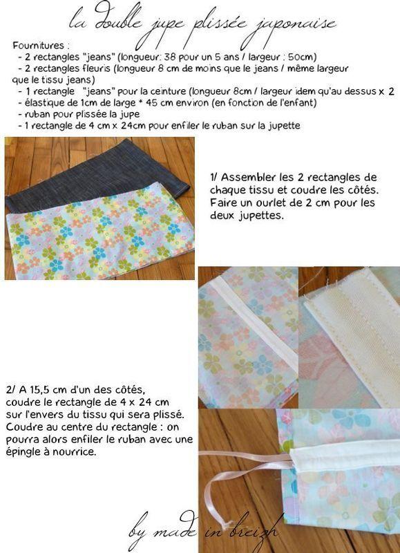Tuto de la double jupe plissée japonaise