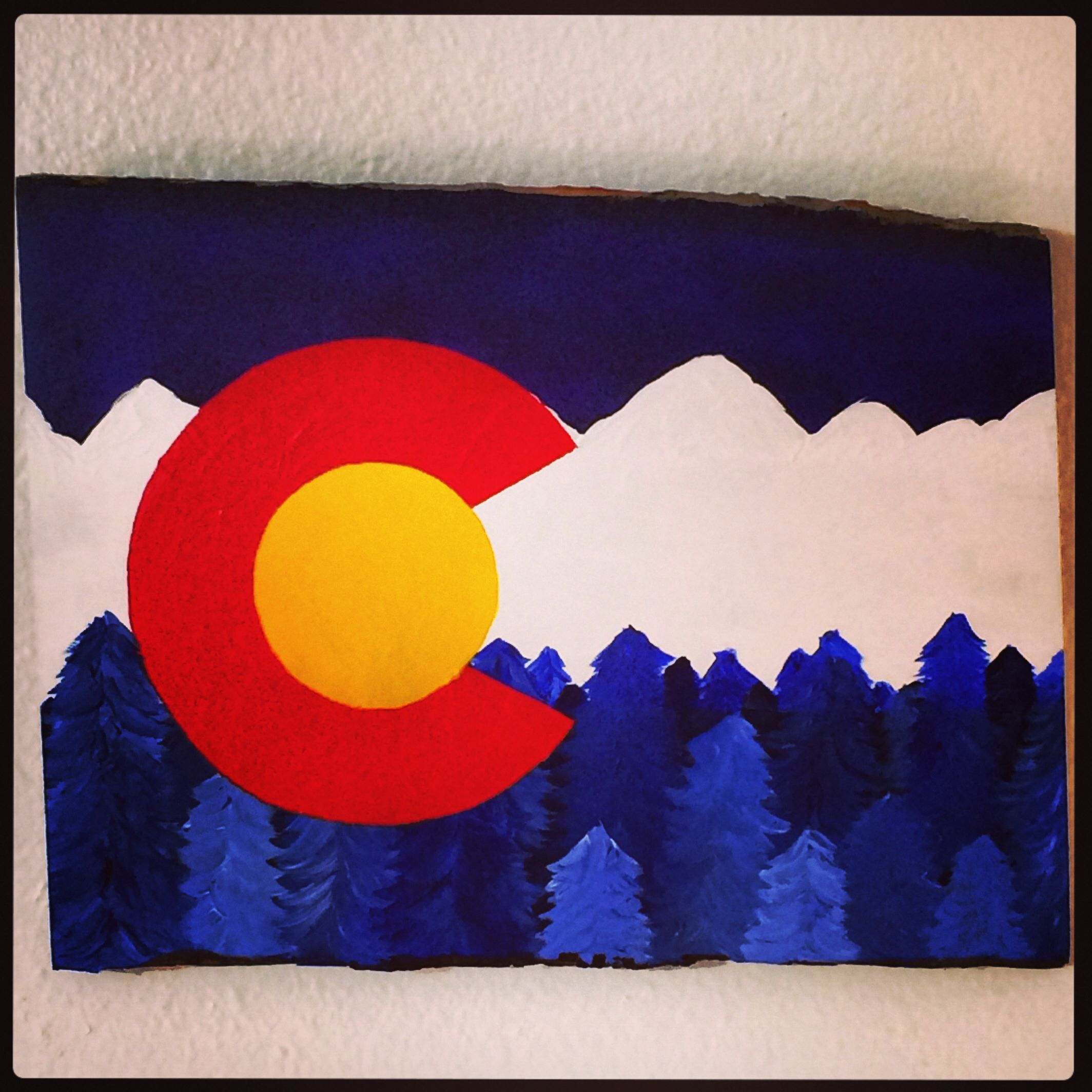 Colorado Flag With Acrylic Paints Did It Myself Colorado Flag