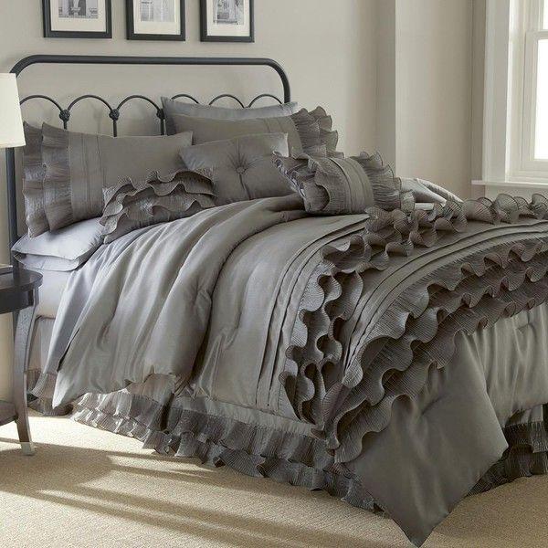 Eluxury Anastacia Pearl 8 Piece Comforter Set 120 Liked On