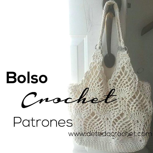 Todo crochet | Bolsos, Puntos y Como tejer