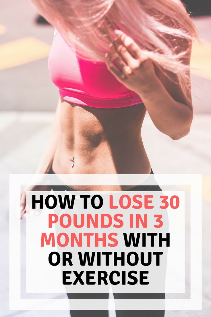 How to Lose 30 Pounds in 3 MONTHS with or without exercise ...