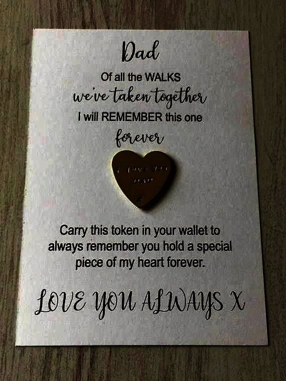 the walks gift dad pocket token daughter to dad gift gift Father of the bride gift of all the walks gift dad pocket token daughter to dad gift gifts for dad wedding favou...