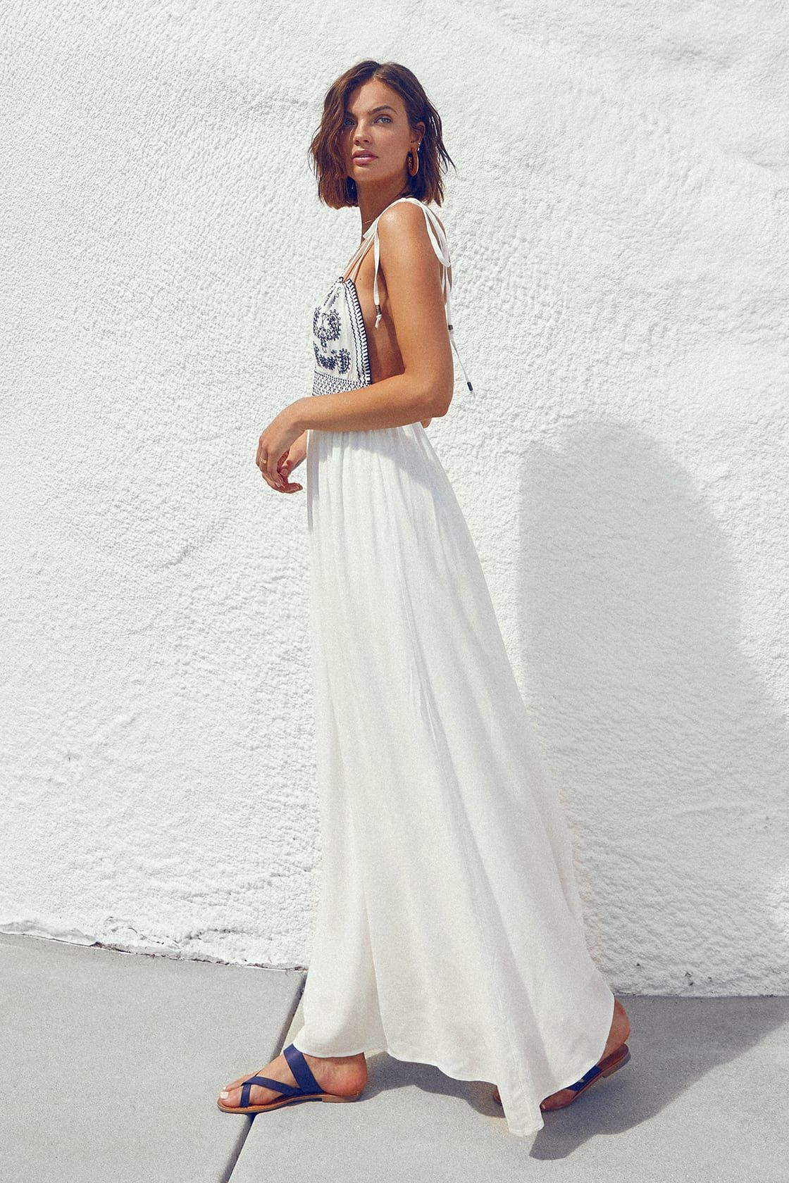 Days of Sunlight Ivory Embroidered Maxi Dress | White dresses for ...