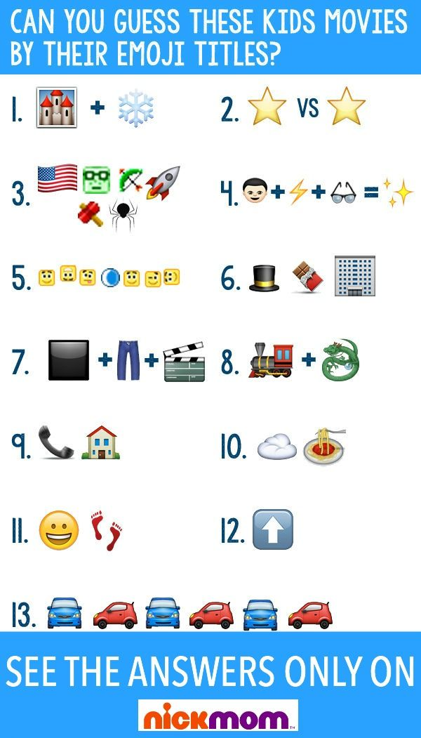Can You Guess These Kids Movies By Their Emoji Titles Kids Movies Emoji Birthday Party Emoji Birthday