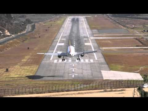 The Best Extreme Approach Video Of Paro Airport Bhutan Please Watch Hd And Full Screen Paros Bhutan Full Screen