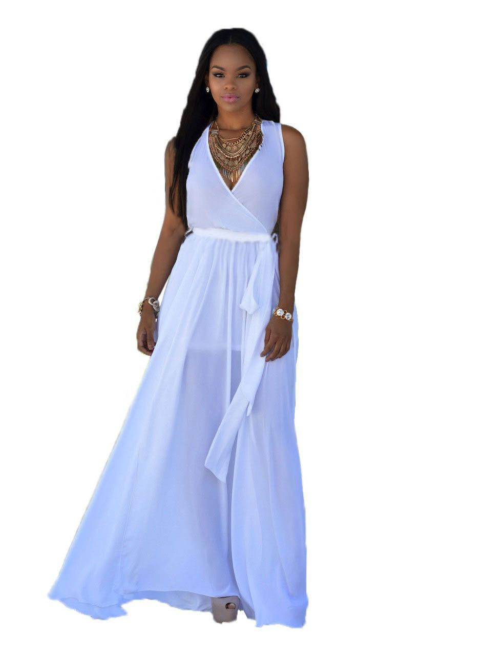Dresses to wear to summer wedding  Exotic designer vneck maxi sexy long summer bandage dress