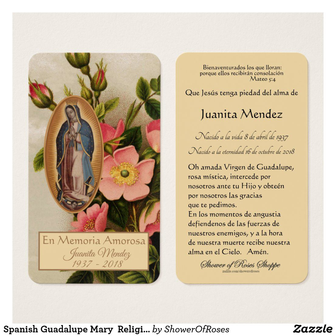 Pin on funeral sympathy holy cards