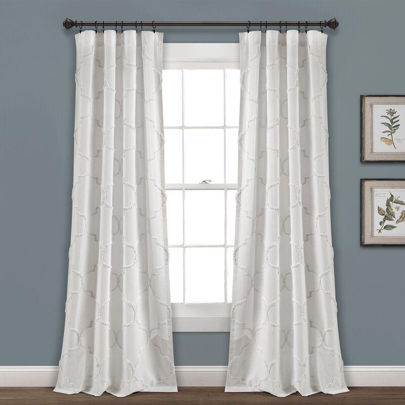 Semi Sheer Rod Pocket Curtain Panels