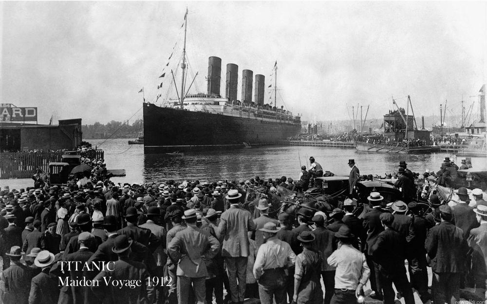 Titanic leaving South Hamption photo 1912