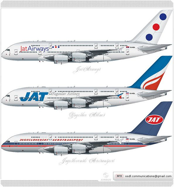 jat airways airbus a380 livery concept livery concept