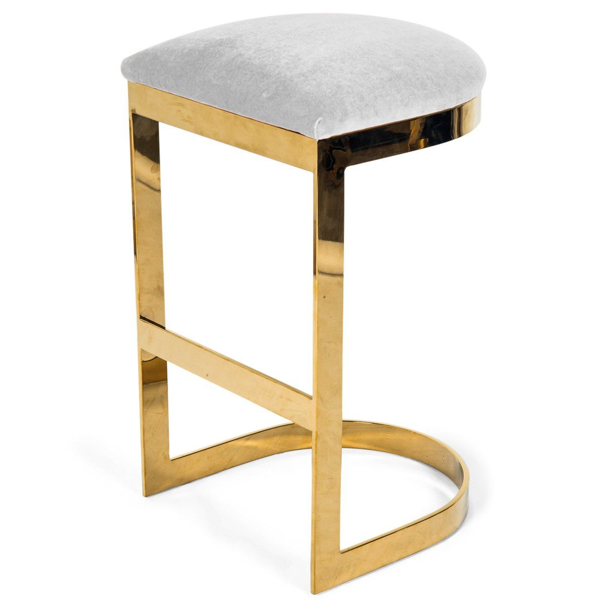 Ibiza Backless Bar And Counter Stool In Velvet Stool Counter Stools Modern Home Bar
